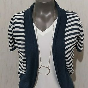Decree blue/cream striped cardigan
